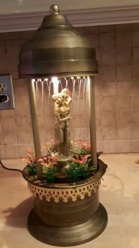Rain Lamp Table Rotating Figure Motion Vintage Semi Nude Oil Lamp