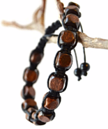 Black Braided Wooden Unisex or Men's Bracelet - $27.90