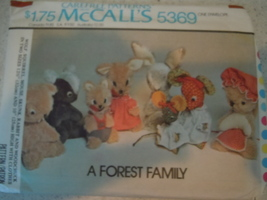 McCall's A Forest Family Pattern # 5369 Uncut - $7.99