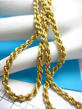"14K Yellow Gold Rope 24"" Chain 18.8 gr Very Substantial Necklace! Made i... - $2,292.93"