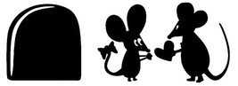 Mini Mouse Mice Rat Hole House for Home Wall stickers decal Living room ... - $5.33+