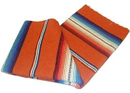 #776 Rust Serape Falsa Blanket Classic Mexican Yoga Mat Pattern Colors B... - $30.69 CAD