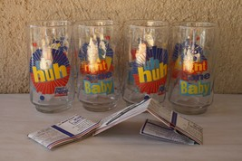 4 Mobil Oil Premium 1992 Diet Pepsi Glasses Uh Huh You Got The Right One Baby   - $24.74
