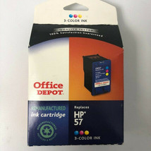 Office Depot HP 57 3 Color Re manufactured Ink Cartridge Replacement NOS - $4.95