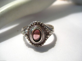 Vintage Sterling Silver Ring with Amethyst Gemstone Size 7.25  4.7grams - €57,08 EUR