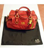 COACH Signature Madison Leather Sabrina Cherry Pink Magenta Satchel Bag ... - $299.99