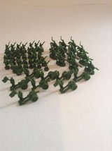 2003 Risk Board Game Full Set Green 60 Piece Replacement Set Army Unit  - $4.99