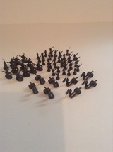 2003 Risk Board Game Gray 58 Piece Replacement Parts Set Army Unit - $4.99