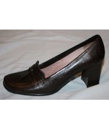 Liz Claiborne Flex Heels Pumps 8 1/2 M Brown Leather Shoes Lada 8.5 - $30.66