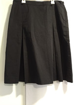 Talbots Women Career Professional Work Black Zip Skirt Sz. 10 - $28.79