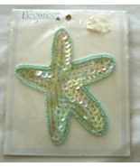 Vintage Starfish Sequin Applique Sew-On Sequine... - $5.99