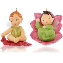 Lotus and Poinsettia - 2015 Hallmark Ornament - 1st in Baby Fairy Messen... - $6.89