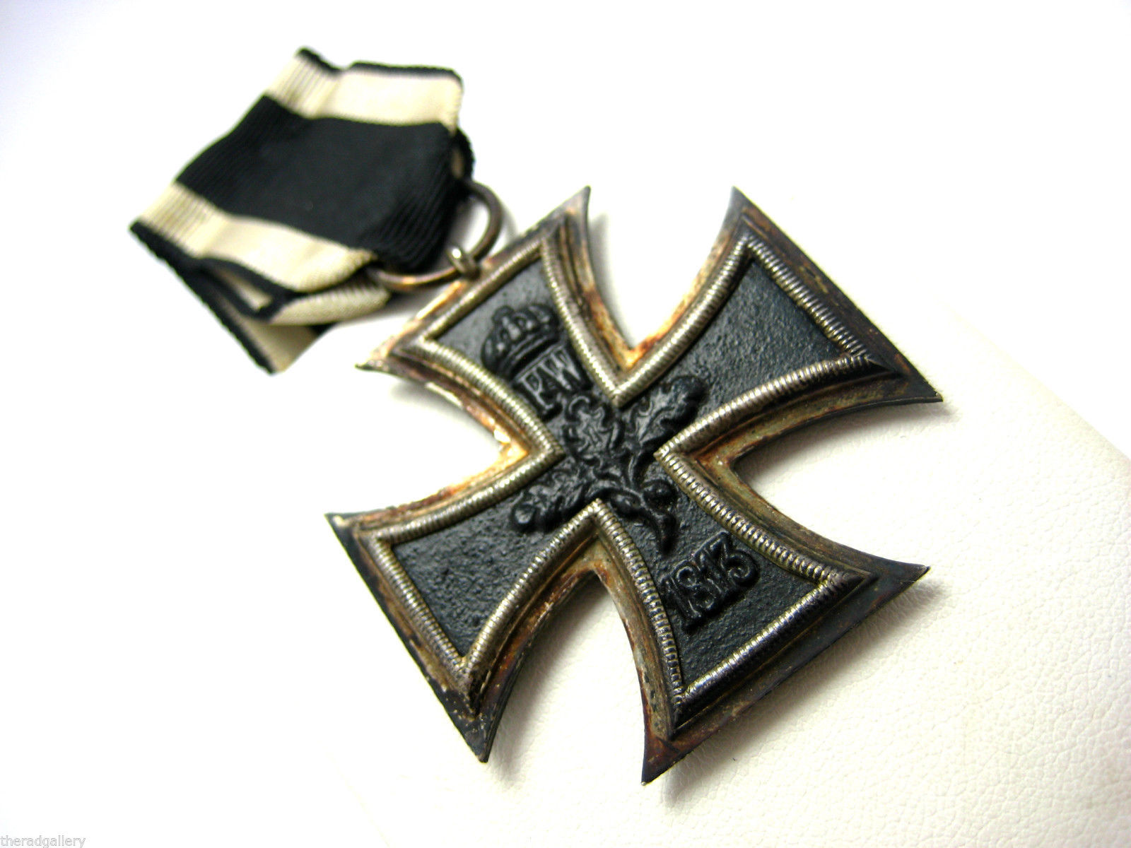WWI German Silver Iron Cross with Ribbon 1813 1914 Badge ...