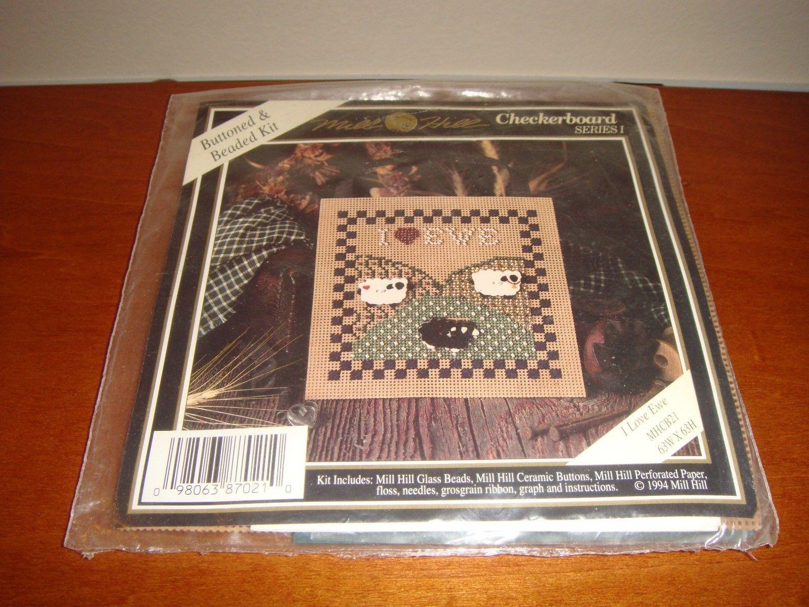 Mill Hill I Love Ewe Checkerboard Series I Cross Stitch Kit