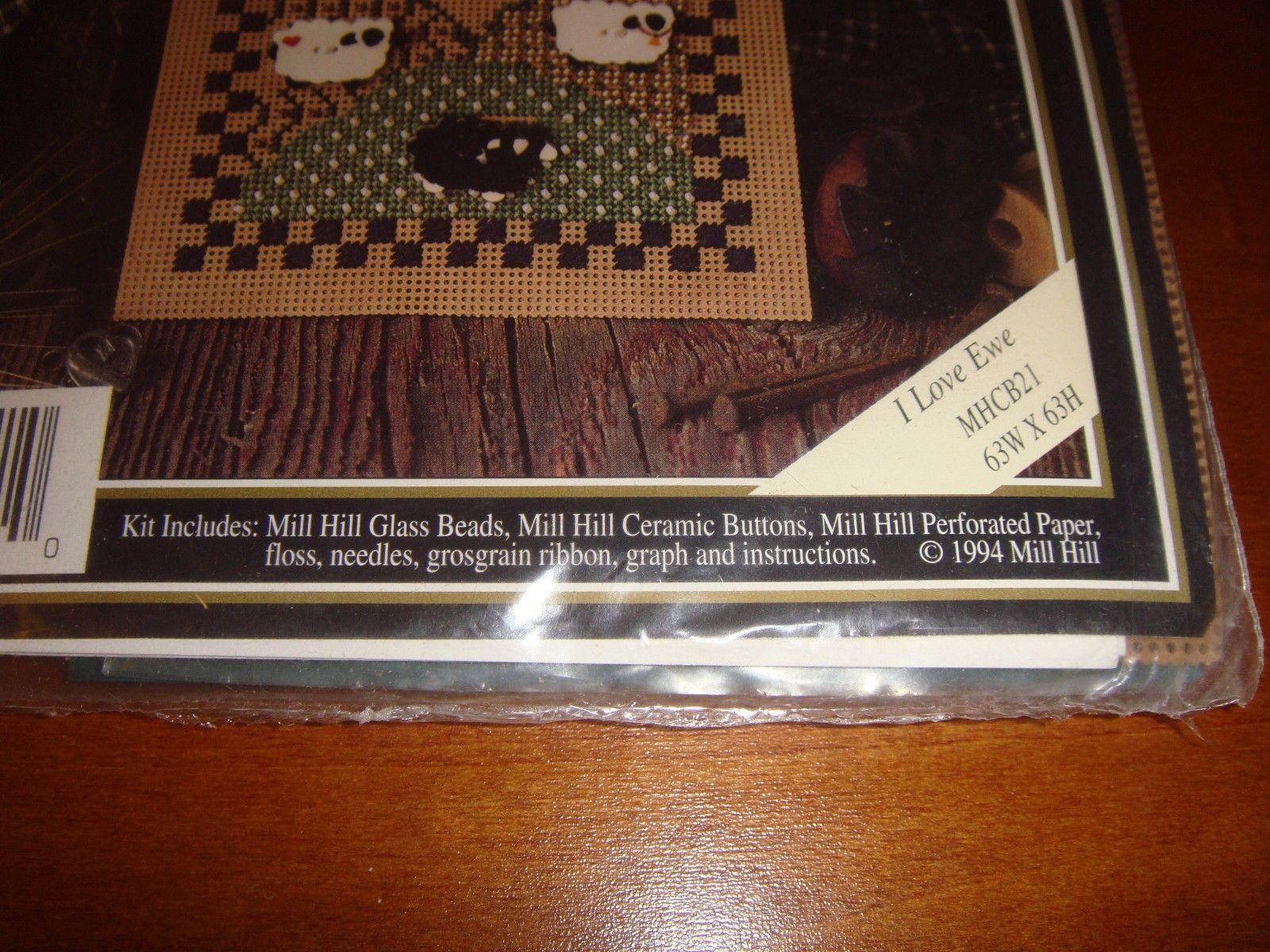 Mill Hill I Love Ewe Checkerboard Series I Cross Stitch Kit image 2
