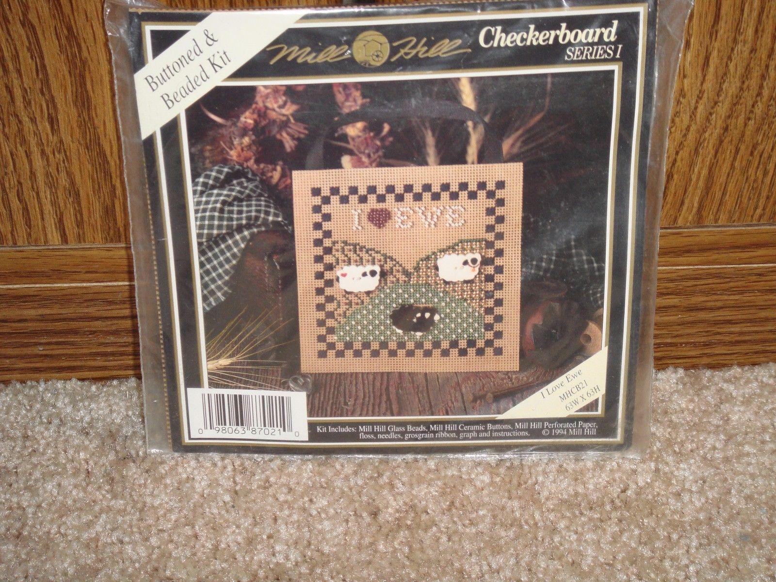 Mill Hill I Love Ewe Checkerboard Series I Cross Stitch Kit image 4