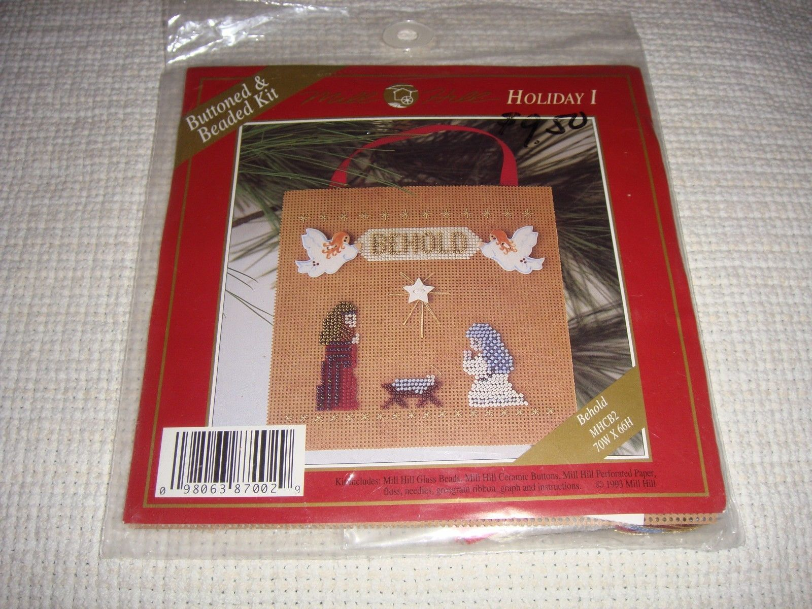 Primary image for Mill Hill Behold Holiday I Buttoned & Beaded Cross Stitch Kit