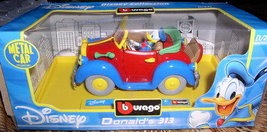 Disney Donald Duck convertable Die Cast Metal Italy car - $33.99