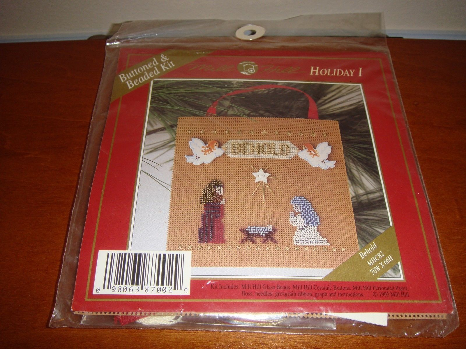 Mill Hill Behold Holiday I Buttoned & Beaded Cross Stitch Kit image 4