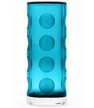 "Kate Spade New York Bonita Street Turquoise Blue Vase 10"" Crystal Polka ... - $72.49"