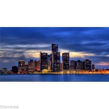 DETROIT SKYLINE PHOTO LICENSE PLATE MADE IN USA - $29.69