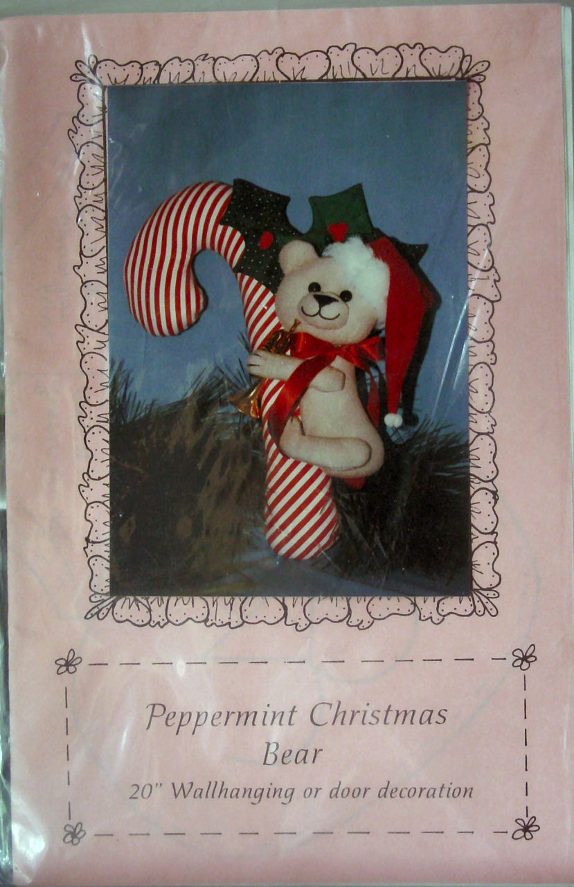 "Primary image for Pattern ""Peppermint Christmas Bear"" 20"" Wallhanging or Door Decoration"