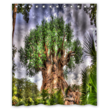 Tree #05 Shower Curtain Waterproof Made From Polyester - $31.26+