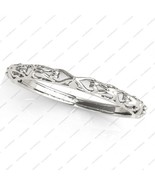 Women's White Gold Plated Pure 925 Sterling Silver Engagement Antique Ba... - $49.99