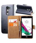 For lg g4c genuine leather case for lg magna g4c g4 mini h525n h522y flip wallet thumbtall