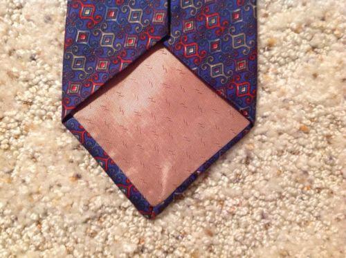 Mens Necktie 100% Silk Geoffrey Beene Blue Red Italy image 6