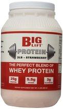 Big Lift Nutrition Protein Supplement, Strawberry, 2 Pound - $28.99
