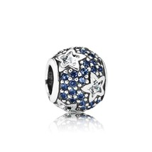 925 Sterling Silver Follow The Stars with Clear Cz & Midnight Blue Cryst... - $21.99