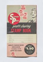 Super Par Stamp book, Super Par Stores, used, 1960s - $5.00