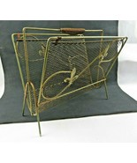 Vintage Mid Century french brass lily flower magazine rack - $79.00