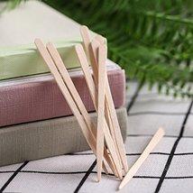 Whaline 400 Pieces Small Wax Sticks Wood Spatulas Applicator Craft Sticks for Ha image 4
