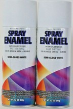 2 Multi-Purpose 12 Oz Interior & Exterior 225417 Semi Gloss White Spray ... - $16.99