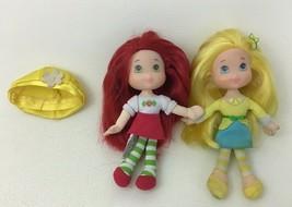 Strawberry Shortcake Lot 2pc Lemon Strawberry Dolls Plush Bodies Toys Ha... - $17.77