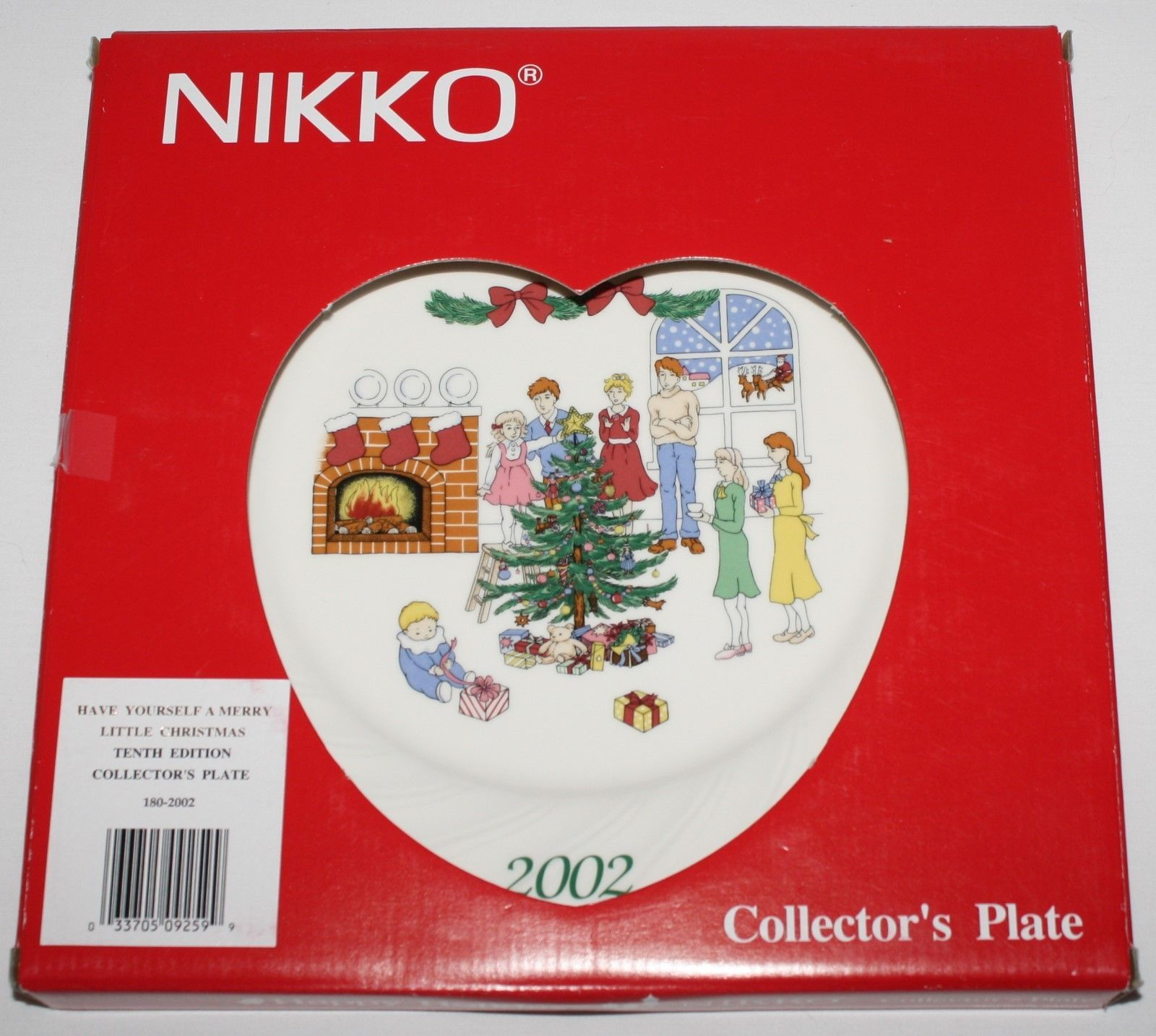 Nikko Happy Holidays 2002 Christmas Collector Plate Have Yourself Merry with Box