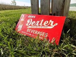 Drink Dexter Beverages Central Falls RI Vintage Metal Advertising Sign M... - $199.00