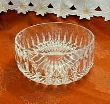 "Gorham Nachtmann Althea 7 5/8"" Lead Crystal Fruit Bowl Vertical Cut - $13.85"