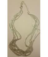 Avon 2010 Sea And Sky Multistrand Beaded  Necklace Green NIB Free Shipping - $14.84
