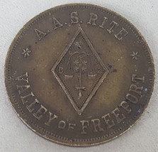 Masonic Temple AAS RITE Valley Freeport Council Princes of Jerusalem Tok... - $10.00