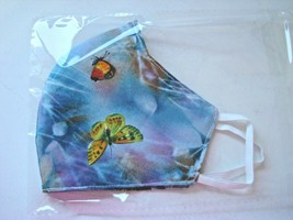 Face Mask Handmade Washable Cotton Butterfly Fabric Adult Made In USA - $9.00