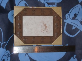 Mickey Mouse Leather Bound 4X6 Photo Frame.Disney Parks. New. - $19.68