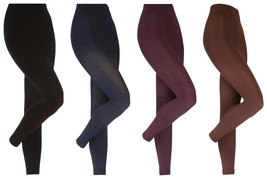 Heat Holders - Womens Thick Winter Warm Fleece Lined Opaque Thermal Leggings - $14.59