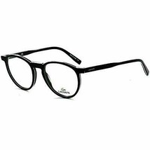 NEW LACOSTE L 2844 001 Black/White/Green & Black Eyeglasses 49mm with Case - $79.15