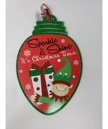 Sparkle & Shine It's Christmas Time w/ Glitter Decorative Holiday Sign -... - $9.99