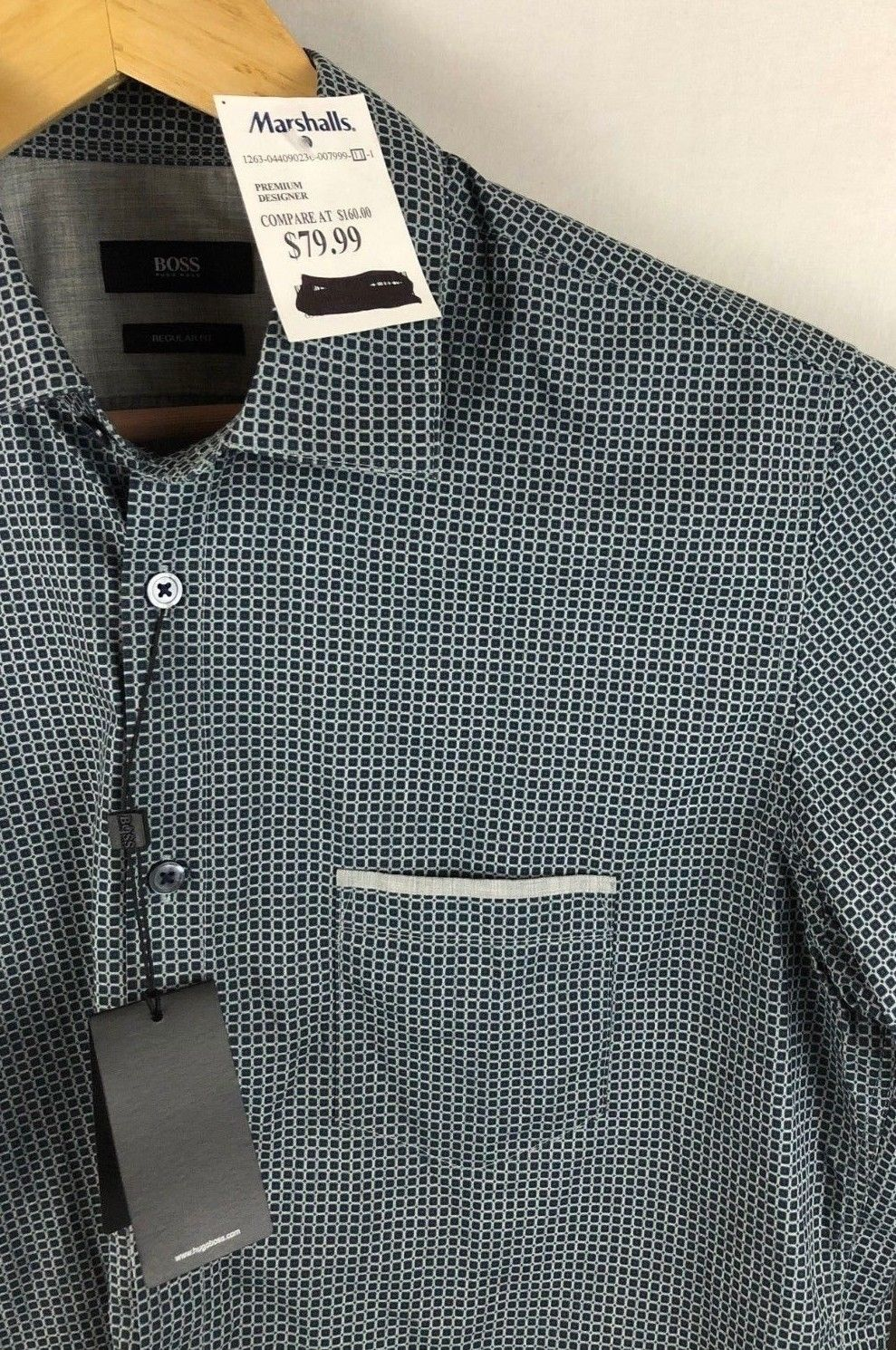 689baf52 S l1600. S l1600. Previous. NWT Hugo Boss Mens Black Label Regular Fit Breast  Pocket Size Medium