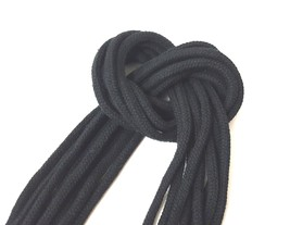 Approx 5mm - 6mm wide - 5 -50 yds Black Cotton Cord String Drawstring Ro... - $5.99+