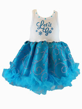 Chic Let It Go Chiffon Sleeveless Tutu Dress, 3-6x USA, Cupcakes & Kisses - $52.00
